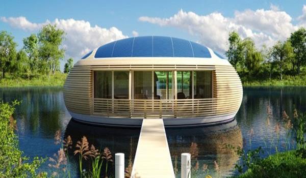 la maison cologique et flottante de demain les essentiels maison. Black Bedroom Furniture Sets. Home Design Ideas